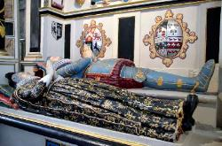 Tomb within Salisbury Cathedral, England