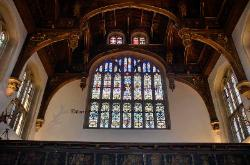 Image of Henry VIII, stained glass window, Hampton Court, England