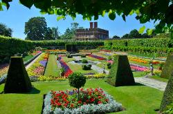 Gardens at Hampton Court, England