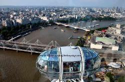 View from the London Eye Ferris Wheel,London,England