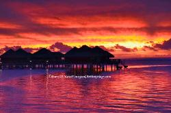 Sunset at Huahine, French Polynesia