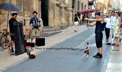 Street puppeteers, Aix-en-Provence, France