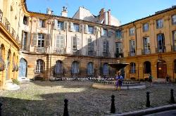 Courtyard, Aix-en-Provence, France