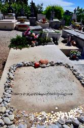 Marc Chagall's grave site in the cemetery at St. Paul de Vence, France