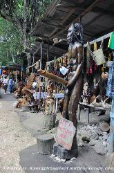 Jamaica craft market, wood carving