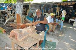 Jamaica craft market, wood carver, Ocho Rios