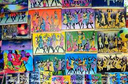 Jamaica, paintings for sale, craft market, Ocho Rios
