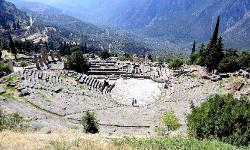 The Theater at Delphi in Greece