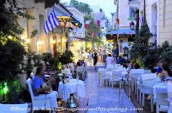 the Plaka neighborhood in Athens