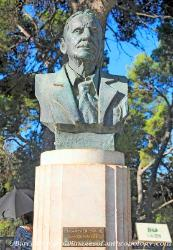 A bust of Sir Arthur Evans, excavator of the Minoan Palace of Knossos in Crete
