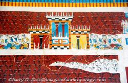 Copy of a restored wall fresco, Minoan Palace of Knossos on Crete