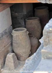Decorated storage vessels, Minoan Palace of Knossos on Crete