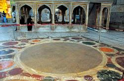 the Omphalion, the place where Byzantine emperors were coronated, Haghia Sophia, Istanbul