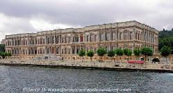 Ottoman Palace along the Bosporus in Turkey