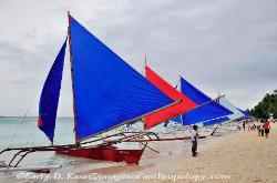 Philippines, outrigger boats, Island of Boracay