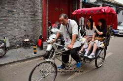 Bycycle rickshaw, Beijing, China