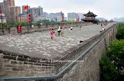 The imperial city wall of Xian, China