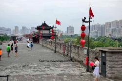 The city wall of Xian, China