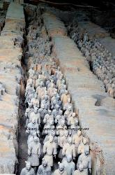 The underground terra-cotta army at Xian, China
