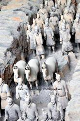 The underground terra cotta army at Xian, China