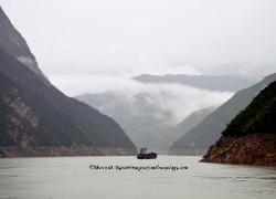 the Three Gorges section of the Yangtze River, China