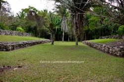 the Ball Court, Mayan site of Kohunlich, Yucatan, Mexico