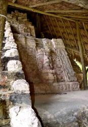 Temple of the Masks, Mayan site of Kohunlich, Yucatan, Mexico