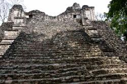 Mayan pyramid at Dzibanche, Yucatan, Mexico