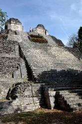 Mayan pyramid with remains of a temple, Dzibanche, Yucatan, Mexico