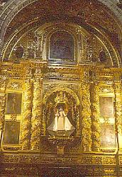 Alter of gold, Cathedral in Oaxaca City, Mexico