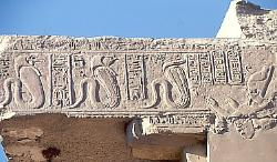 Cobra worship, temple of Karnak, Egypt