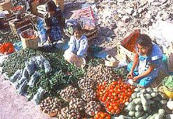 Produce market, Oaxaca City, Mexico