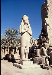 Statue of Pharoah, temple of Karnak, Egypt