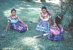 Women in colorful dress, Oaxaca, Mexico