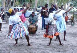 Garifuna dancers, coast of Honduras