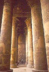 Columns, temple of Dendera, Egypt