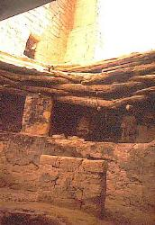 Kiva with partial roof, Square Tower House, Mesa Verde National Park, Colorado