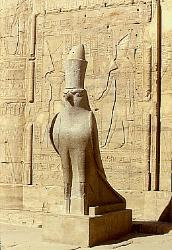 Statue of Horus, Temple of Horus at Edfu, Egypt