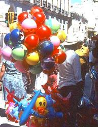 Baloon vendor, Mexico City