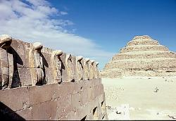 Step pyramid at Saqqara, Egypt