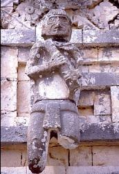 Figure on a wall of the 'Nunnary' complex, Uxmal