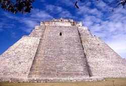 Pyramid of the Magician, Mayan site of Uxmal, Mexico