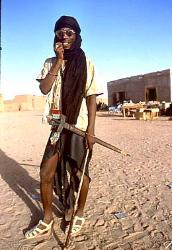Tuareg warrior, near Agadez, Niger