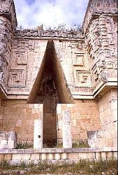 Classic Mayan corbelled arch, Uxmal