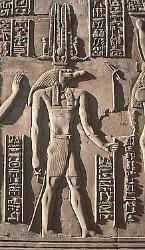 Crocodile god Sobek, temple of Kom Ombo, Egypt