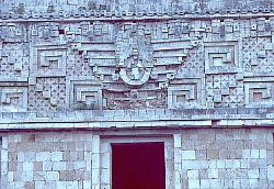Wall of the Nunnary complex, Uxmal, Mexico