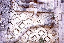 Rattlesnake diety, Palace of the Governor, Uxmal, Mexico