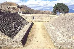 Ballcourt at Monte Alban, Zapotec site in the valley of Oaxaca, Mexico