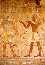 Offering to Horus, Temple of Hatshepsut, Egypt
