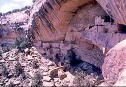 Anasazi cliff dwelling, Ute Mountain tribal reservation, Colorado